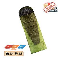 Спальный мешок одеяло с капюшоном Tramp Sherwood Long (0 / -5 / -20). Спальник зимний туристический для рыбалк