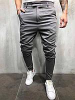 Мужские брюки серые с полосками по бокам Турция