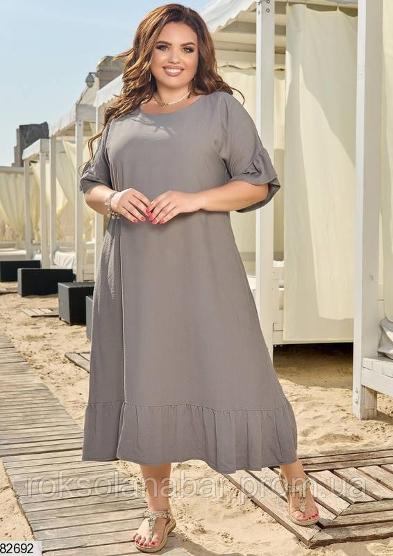Легка літня жіноча сукня XL сірого кольору