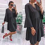 Жіноче плаття, софт, р-р універсальний 42-46; 48-52 (чорний), фото 2
