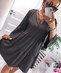 Жіноче плаття, софт, р-р універсальний 42-46; 48-52 (чорний), фото 3