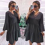 Жіноче плаття, софт, р-р універсальний 42-46; 48-52 (чорний), фото 4