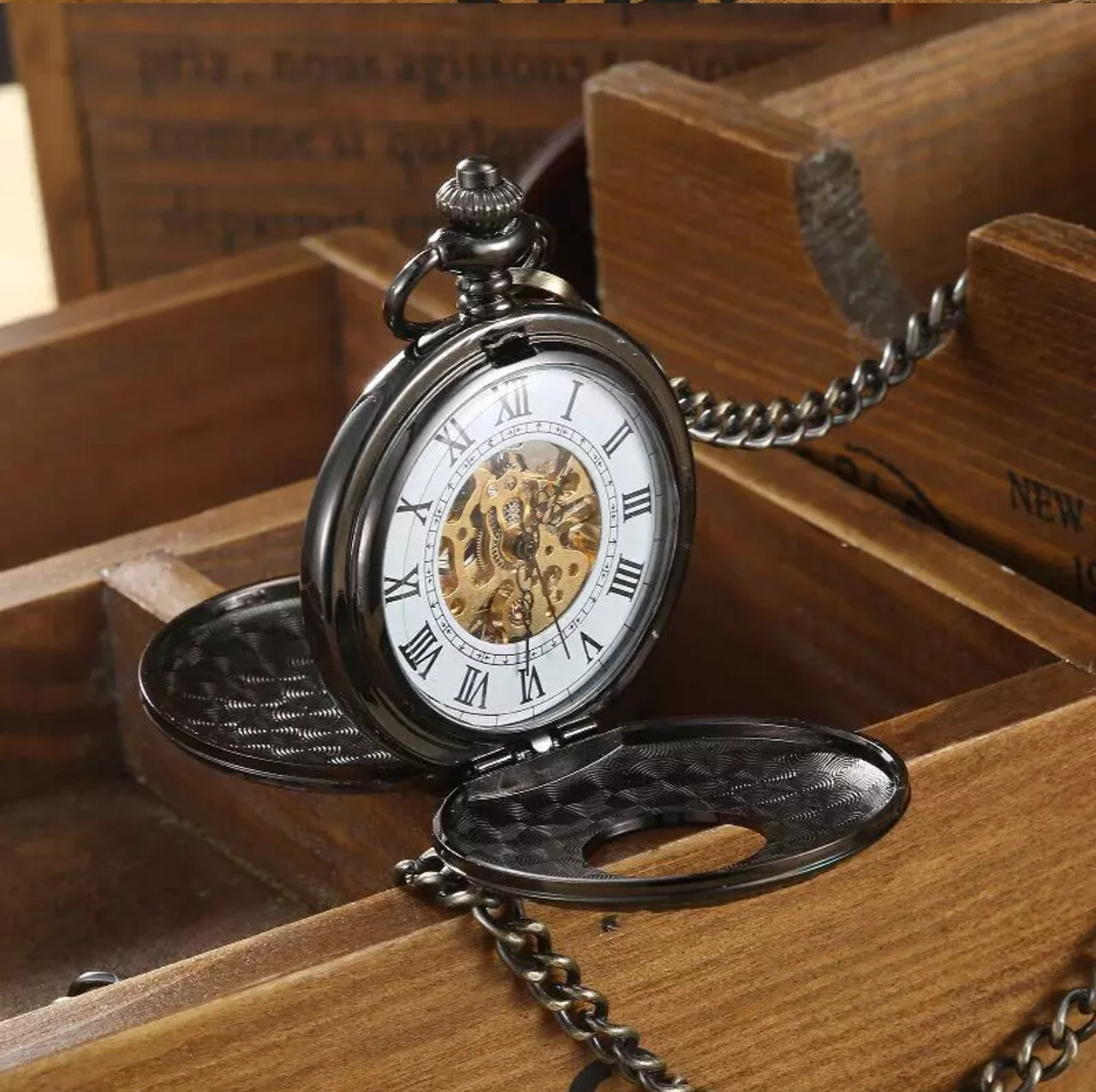 Кишенькові чоловічі годинники механіка дві кришки