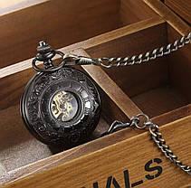 Кишенькові чоловічі годинники механіка дві кришки, фото 3