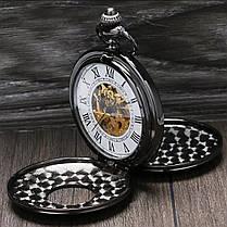 Кишенькові чоловічі годинники механіка дві кришки, фото 2
