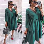 Женское платье, софт, р-р универсальный 42-46; 48-52 (зеленый), фото 2