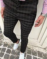 Мужские брюки черные в клетку Турция