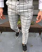 Мужские брюки бежевые в клетку Турция
