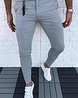 Мужские брюки светло серые Турция