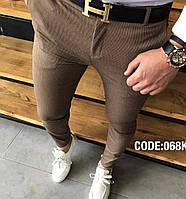 Мужские брюки коричневые Турция