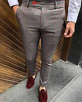 Мужские брюки коричневые в полоску Турция