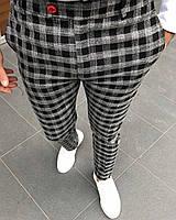 Мужские брюки в черно-белую клетку Турция