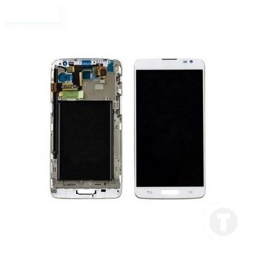 Дисплей (екран) для LG D680 G Pro Lite/ D682 G Pro Lite Dual з сенсором / тачскріном (Модуль) білий з рамкою (передньою панеллю)