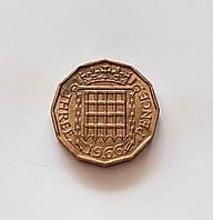 3 пенса Великобритания 1966 г., фото 1