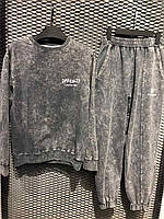 Мужской серый спортивный костюм штаны + свитшот, Турция