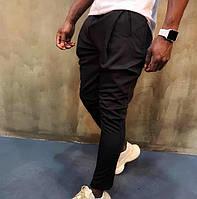 Мужские черные брюки зауженные к низу, Турция