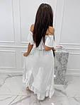 Женское платье, креп-жатка, р-р универсальный 42-46 (белый), фото 2