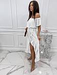 Женское платье, креп-жатка, р-р универсальный 42-46 (белый), фото 4