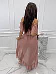 Жіноче плаття, креп-жатка, р-р універсальний 42-46 (пудра), фото 2