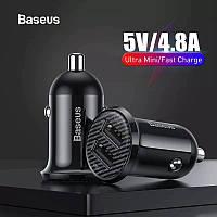 Автомобильное зарядное устройство на 2 USB BASEUS 4.8A 24W зарядка в машину Grain Pro Car Charger (черный)
