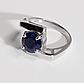 Серебряное кольцо с сапфиром, 2737КЦС, фото 2