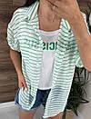 Летняя женская рубашка в полоску с имитацией майки (р. 42-46) 81ru504, фото 5