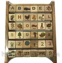 Детская деревянная Азбука 172195 (английский язык)