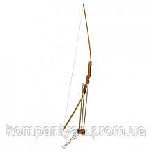 Дитячий дерев'яний лук 55см з чохлом для стріл + три стріли 171874у