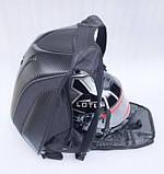 Моторюкзак черный Kawasaki (Увеличенный объём)  33х16х48 c дождевиком в комплекте, фото 2