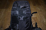 Моторюкзак черный Kawasaki (Увеличенный объём)  33х16х48 c дождевиком в комплекте, фото 7