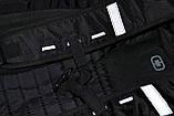 Моторюкзак черный Kawasaki (Увеличенный объём)  33х16х48 c дождевиком в комплекте, фото 8