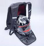Моторюкзак черный Kawasaki (Увеличенный объём)  33х16х48 c дождевиком в комплекте, фото 9
