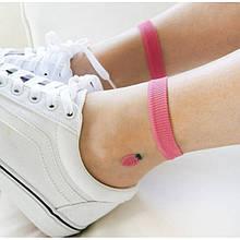 Шкарпетки з фруктами ультратонкі з гумкою, жіночі капронові носочки