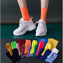 Шкарпетки бавовняні однотонні до середини гомілки, розмір 36-39, 1 пара