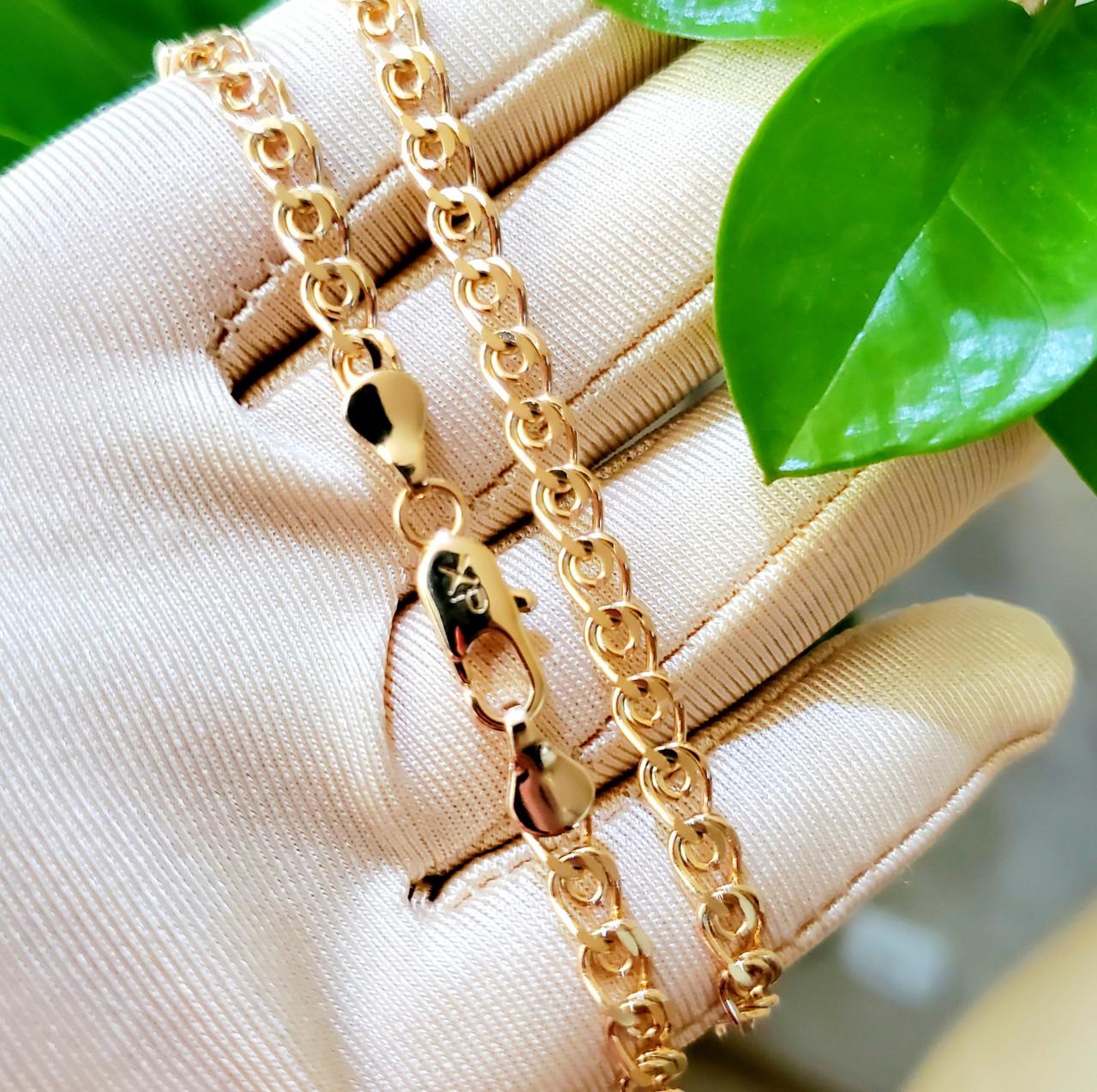 Ланцюжок xuping 5мм 55см медичне золото позолота 18К лав ц728