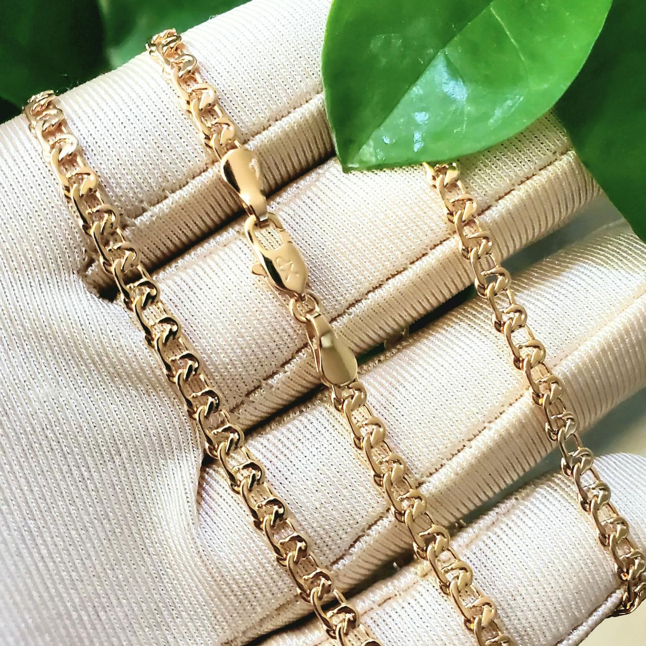 Ланцюжок Xuping 3мм 55см медзолото позолота 18К плетіння Муза ц583
