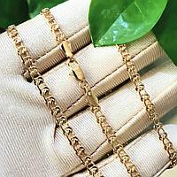 Ланцюжок Xuping 3мм 55см медзолото позолота 18К плетіння Муза ц583, фото 1