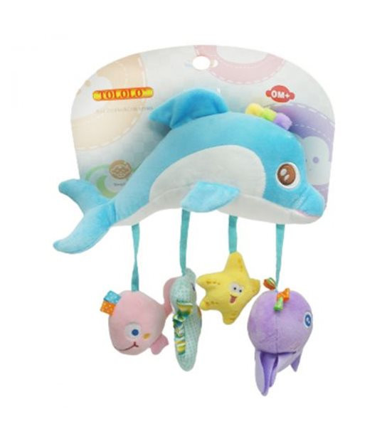 Детская Погремушка 8069 мягконабивная (Дельфин)