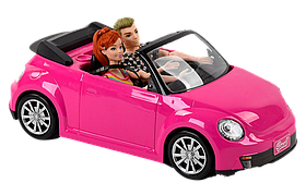 """Музыкальная Машинка с куклами """"Автомобильное путешествие"""" Розовая"""