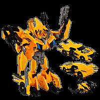 Большой трансформер Бамблби Автобот 39 см Желтый стреляет из оружия, фото 4