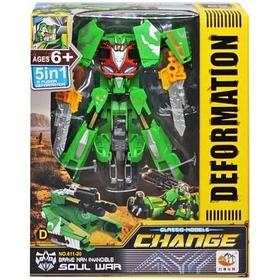 Робот Трансформер Change Deformation Soul war Зеленый