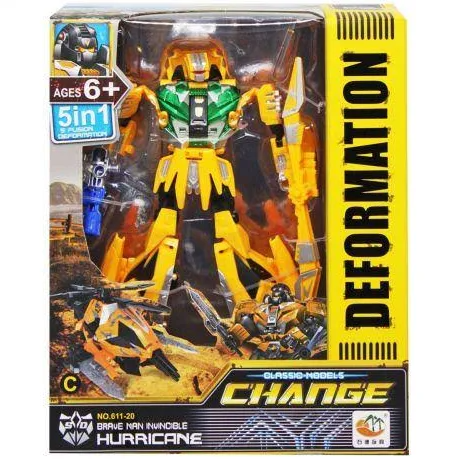 Робот Трансформер Change Deformation Hurricane Желтый