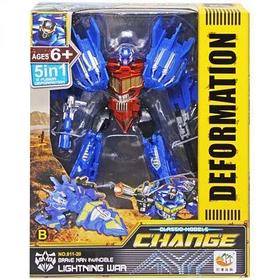Робот Трансформер Change Deformation Lighting war Синий