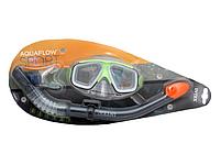 Набор для плавания Intex маска трубка Размер M от 8 лет Салатовый, фото 2
