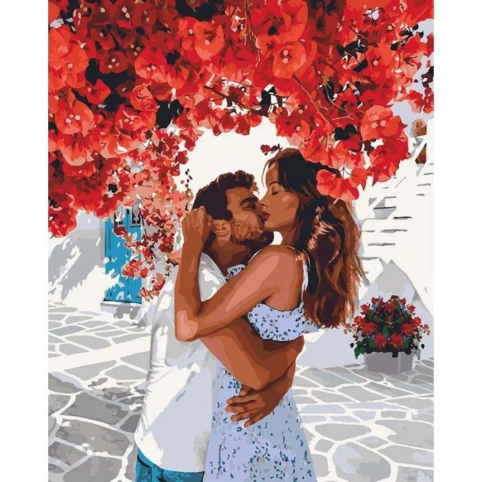 """Картина по номерам Люди Цветы """"Сладкие объятия"""""""
