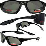 Спортивные очки Global Vision Eyewear Code-8 Smoke, фото 4