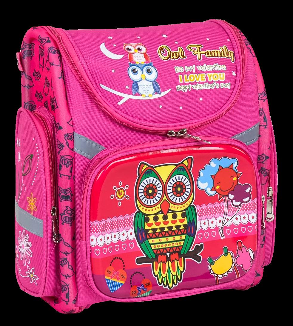 Рюкзак шкільний каркасний Сова з ортопедичною спинкою
