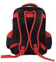 Рюкзак школьный Человек Паук 3D принт Черный с красными вставками, фото 2