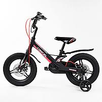 """Велосипед 14"""" дюймів 2-х колісний """"CORSO"""" MG-01025 (1) МАГНІЄВА РАМА, ЛИТІ ДИСКИ, ДИСКОВІ ГАЛЬМА, зібраний, фото 2"""