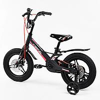 """Велосипед 14"""" дюймів 2-х колісний """"CORSO"""" MG-01025 (1) МАГНІЄВА РАМА, ЛИТІ ДИСКИ, ДИСКОВІ ГАЛЬМА, зібраний, фото 3"""